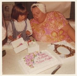 Crystal and Grandma on Their Shared Birthday in 1972