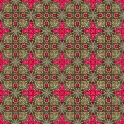 Pink Design in Golden Bursts-Seamless Tile