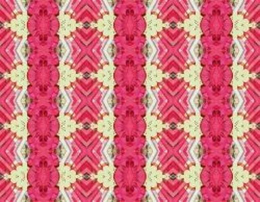 Zig Zag Flowers--4 Mirror Tile