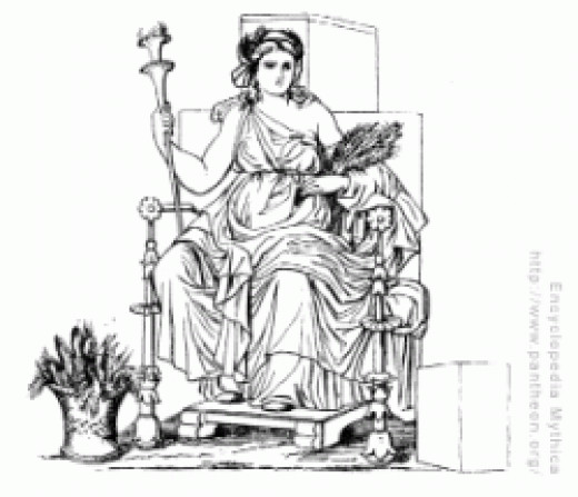 Ceres as an allegorical representation of agriculture