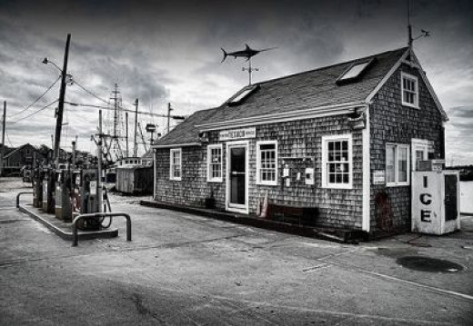 Menemsha gas station, in the town of Chilmark.