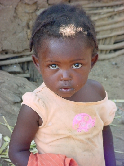 A beautiful Haitian girl with soulful eyes
