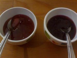 Strawberry or boysenberry jam