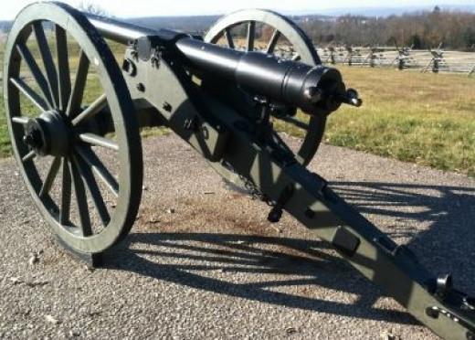 One of Over 400 Cannons on the Battlefield. Boom!