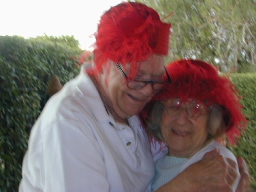 Another red hat fun picture - it might be fuzzy but it still makes me laugh.