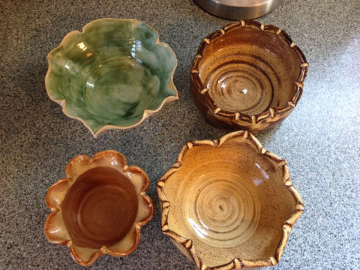 I really like the rims on these clay bowls. My favorite is the one on the bottom right.
