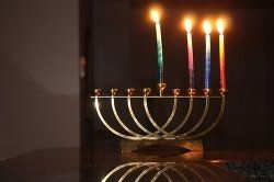 lighting Chanukah candles