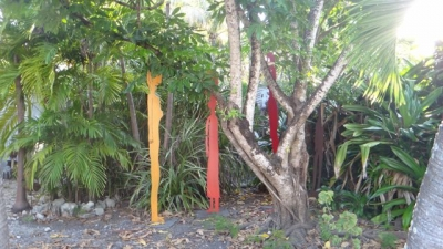 Colorful yard art abounds in Bahama Village