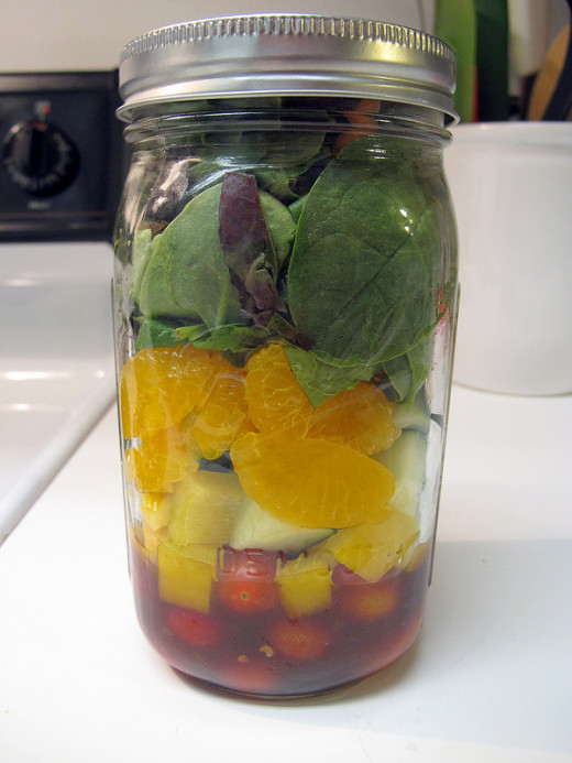 You can even make salad in a jar for easy transport to work.