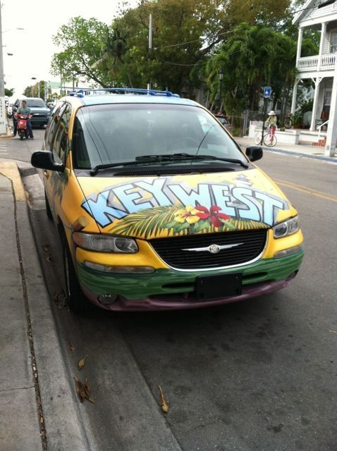Front of Key West car