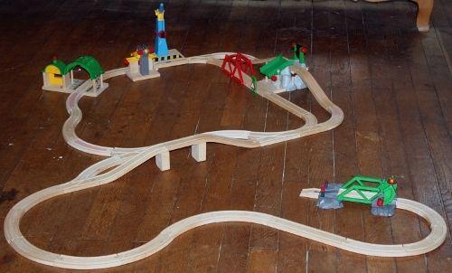 Brio toy train tracks