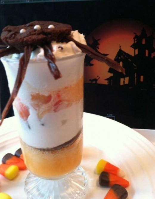 Halloween dessert shooter - Arachnophobics beware!!!