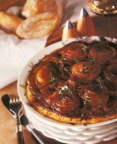Onion Tarte Tatin with Anchovies.