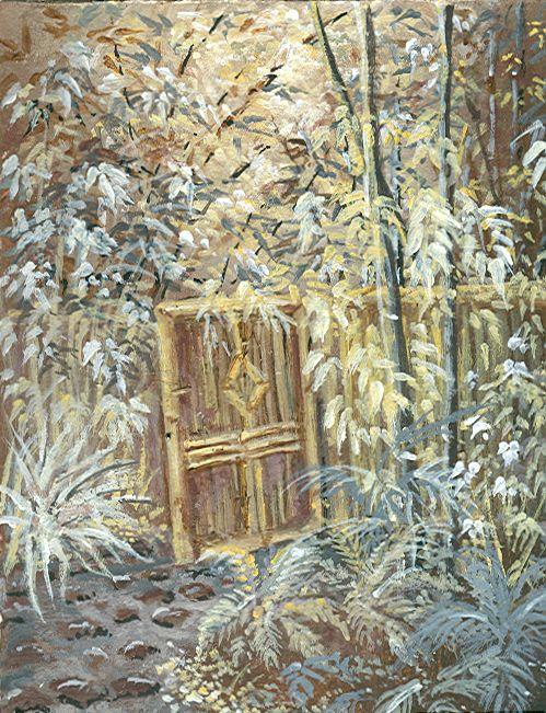 Bamboo garden, acrylic by s.lewis