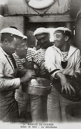 sailors in Breton stripe