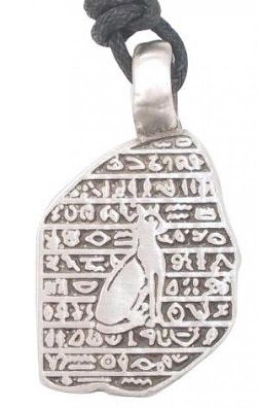 Egypt inspired cat pendant