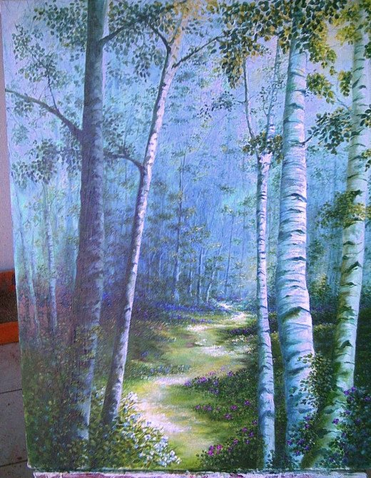 Where We Used to Walk 24 x 30 Acrylic