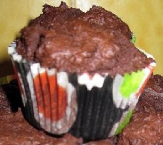 bittersweet chocolate muffins