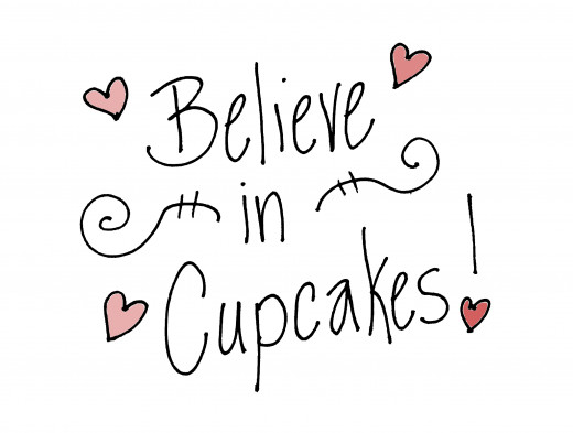 I Beleive in Cupcakes Free Clipart