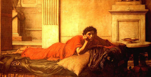The Remorse of Nero by John William Waterhouse. 1878