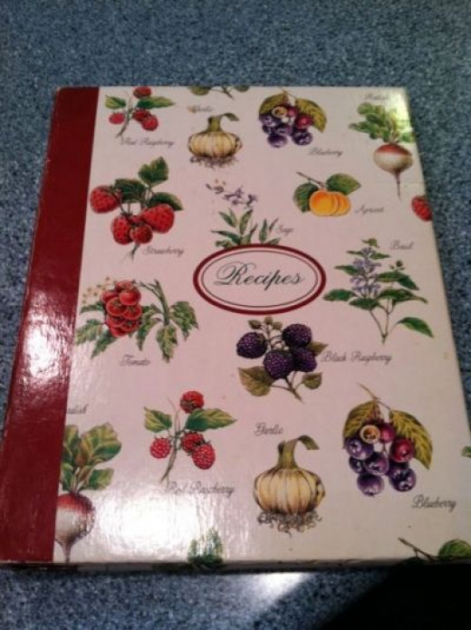 This is the recipe book my Mom put together for me for my birthday.