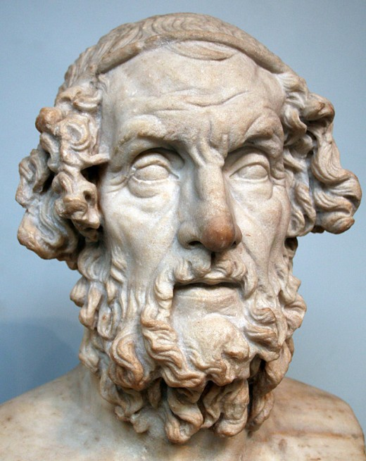 The Most famous Greek poet, Homer. (lived most likely between 800B.C. - 700B.C.)