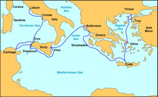 Aeneas's Journey from Troy