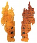 Papyrus Scraps are all that remain for the most part of these ancient texts.