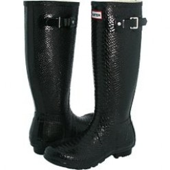 Hunter Rain Boots - The Quest for Gloss Black Hunter Welly Boots