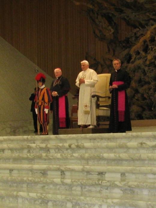 The Pope in Prayer