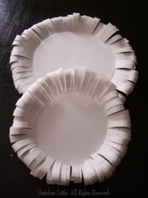 Paper Plate Flower #3 by Gretchen Little All Rights Reserved