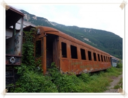 Derelict Railway Carriage