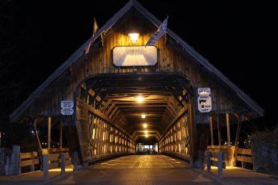 The Covered Bridge At Night