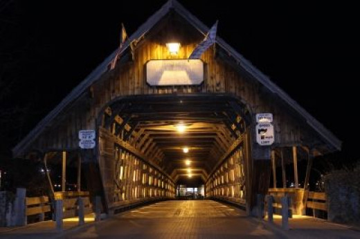 The Covered Bridge At Night