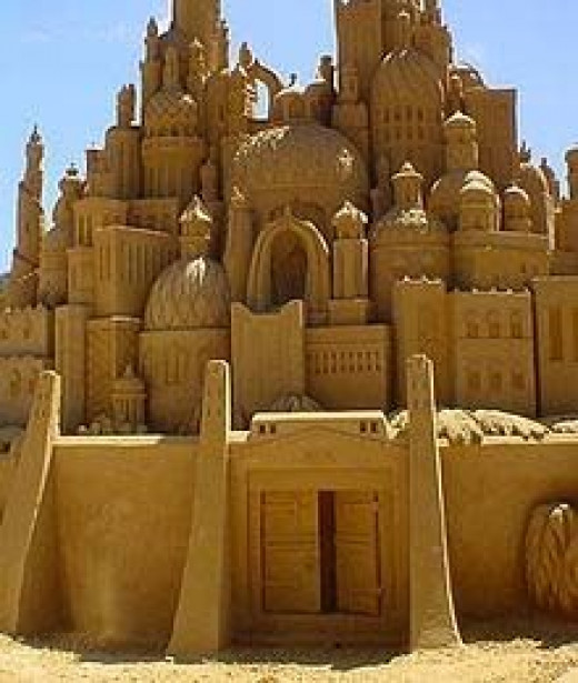 Build imaginary sand castles