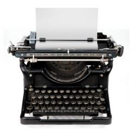 typewriter to publisher