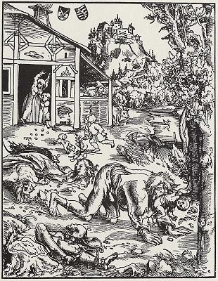 werewolves by Lucas Cranach the Elder
