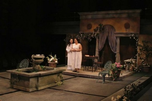 Enchanted April, WaterTower Theatre, set designer Clare Floyd DeVries