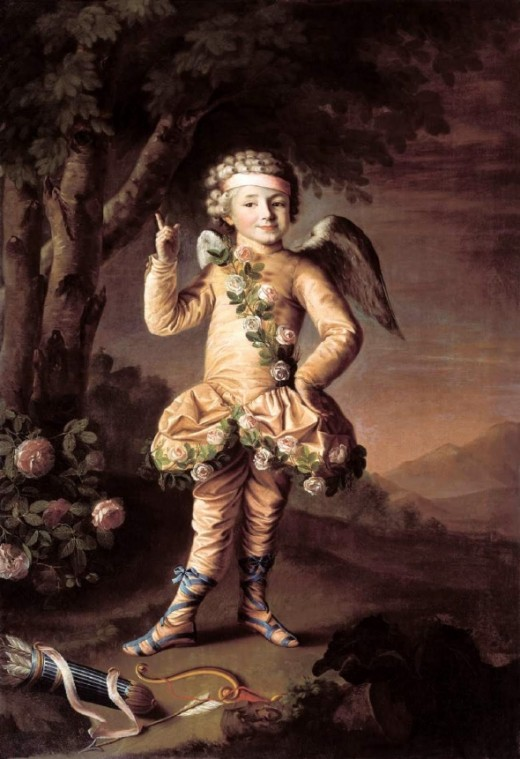 Cupid, by Nikolai Argunov, believed public domain