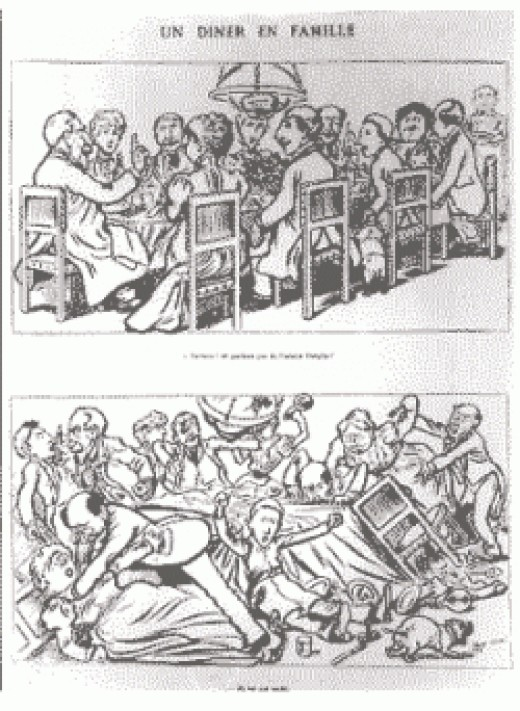 an old political cartoon the family of France