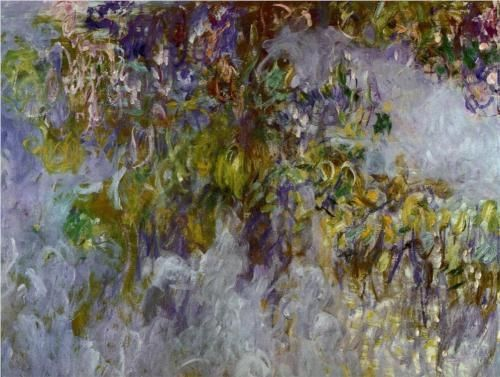 Monet wisteria,m public domain Wikipainting