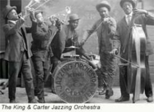 Jazz with the King and Carter Jazzing Orchestra, public domain