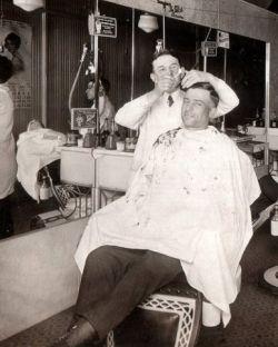 Barber, believed public domain