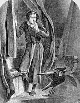 Poe and his Raven