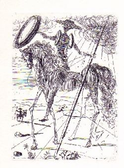 Don Quixote by Dali, courtesy of daliarchives.com