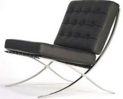 The Barcelona Chair by Mies (mostly) read more at this link