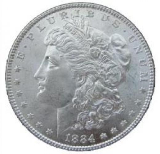 silver dollar, wikimedia