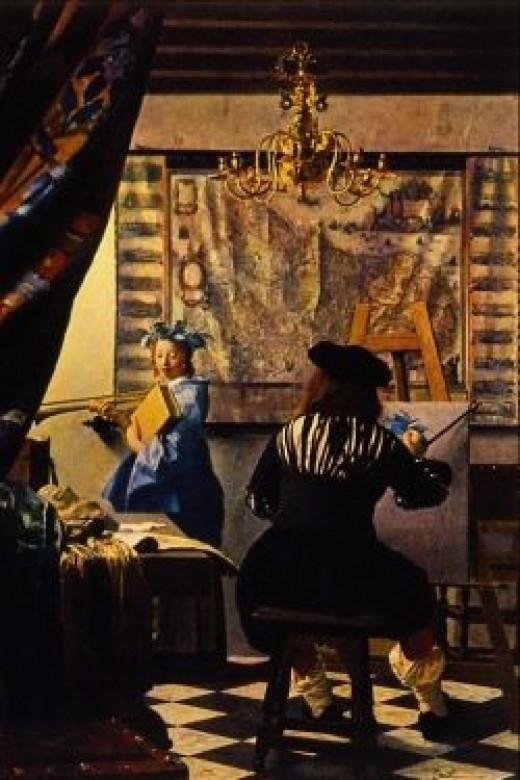 The Artist's Studio, by Vermeer (note the scrubbable floor).