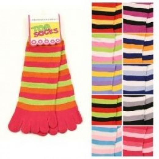 Striped Toe Socks