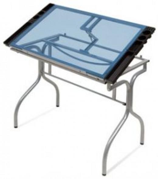 Blick's folding craft table